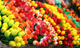 colorful tulips for sale in the flower market - 179108976