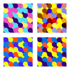 Set of seamless pattern Flat circles.