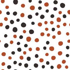 Hand Drawn Dots Asymmetrical Seamless Pattern, Dotted Swiss