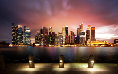 Singapour by night.
