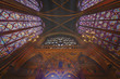 Interior view from Saint Chapelle in Paris and its beautiful design