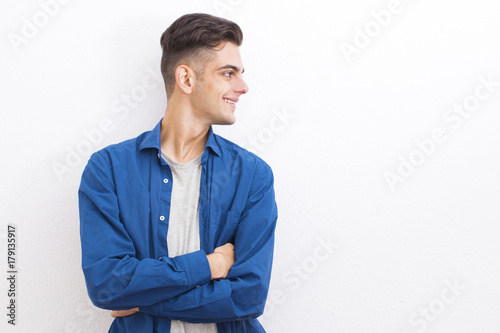 Plakat young casual style on the white wall