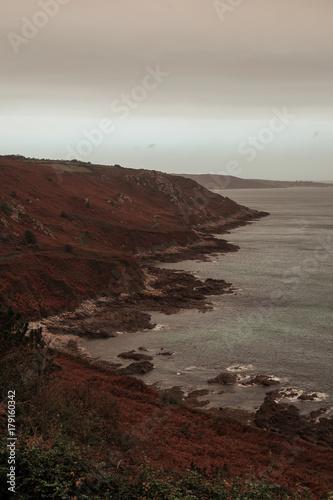 Papiers peints Taupe Vue des côtes normandes