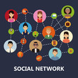 Social network icons icon vector illustration graphic design