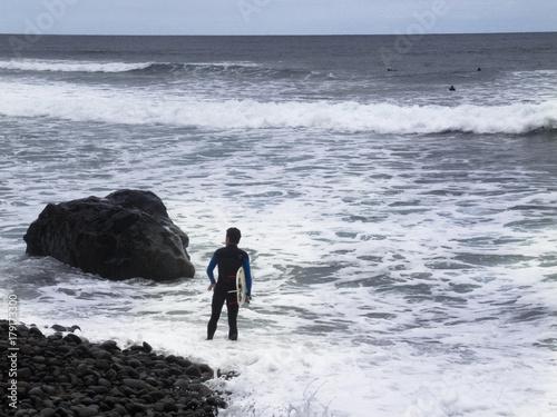 Surfer auf Teneriffa Poster