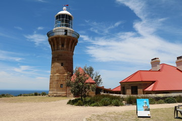 Barrenjoey Lighthouse in Palm Beach Sydney at the Tasman Sea, Australia