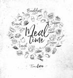 Monogram meal time - 179187972