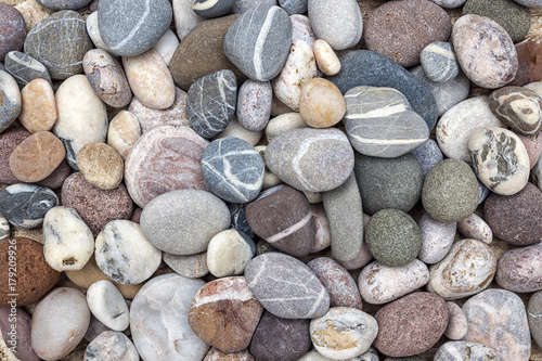 Colorful beach pebbles