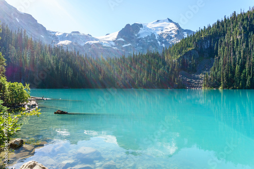 Fotobehang Turkoois Joffre Lake in British Columbia, Canada at day time.