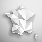 Fototapeta Paris - mapa Francji origami wektor © Rzoog