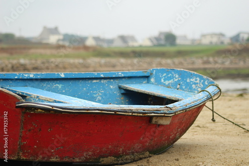 Keuken foto achterwand Schip Barque à marée bassse
