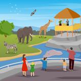 Zoo Flat Cartoon Composition - 179255729