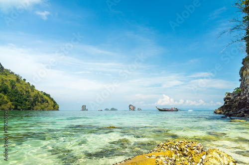 Fotobehang Tropical strand Sunset Beach Krabi Thailand
