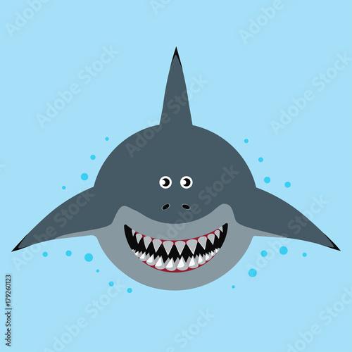 Fototapeta cartoon funny shark