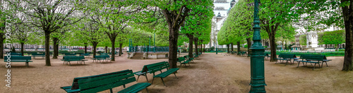 Panoramic view of a park in Paris France - 179267737