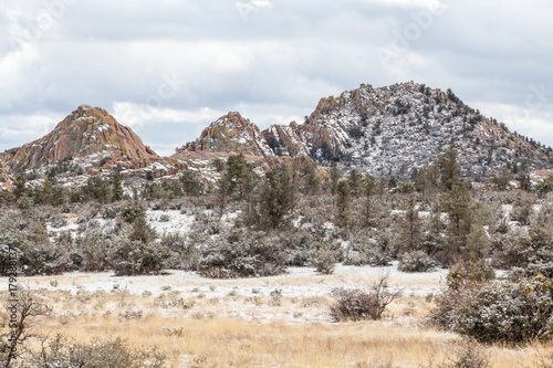 Papiers peints Arizona Winter snow on the Granite Dells Prescott Arizona