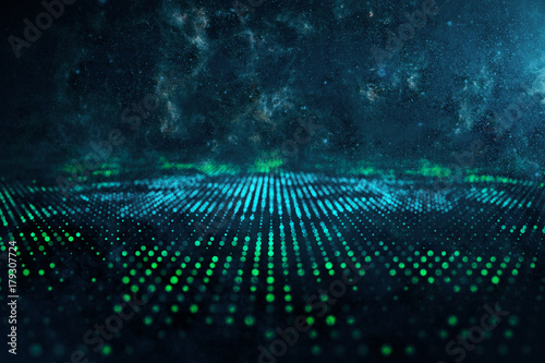 Digital space liquid backdrop