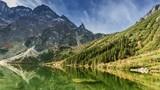 Famous lake Morskie Oko in Tatras Mountains, Poland, Timelapse