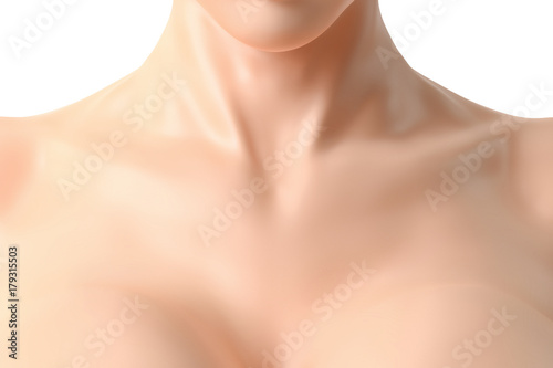 © PixlMakr - Fotolia.com Beautiful female neck and cleavage