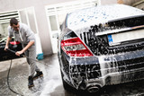 Car washing. Cleaning Car Using High Pressure Water.  - 179321121