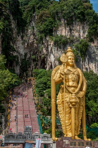 In de dag Kuala Lumpur Batu Caves de Malaisie