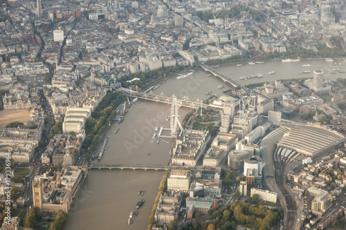 Foto op Plexiglas London London City from the airplane