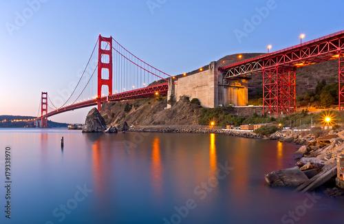 golden gate bridge at dawn Poster