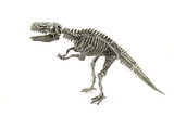 skeleton of dinosaur t-rex of toy in white background