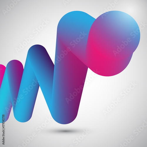 Abstract fluid shape - 179343718