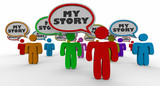 My Story People Speech Bubbles Share Your Experience 3d Illustration - 179352571