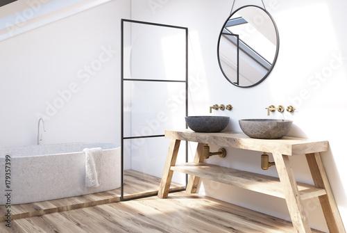 Modern bathroom corner - 179357399