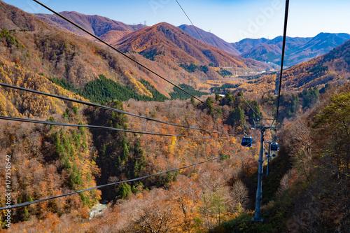 Foto op Plexiglas Cappuccino 苗場スキー場秋のドラゴンドラからの風景