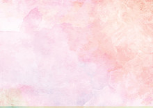 Pastel Pink Watercolor Ink Brush Paper  Sticker