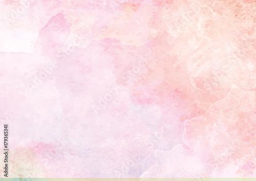 Pastelowy różowy akwarela atramentu szczotka papier tło