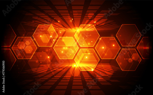 Sticker Abstract vector blue technology concept. background illustration