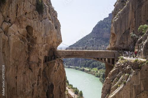 Foto op Plexiglas Cappuccino Chemin du roi en andalousie
