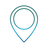 location pin icon over white background vector illustration - 179397123
