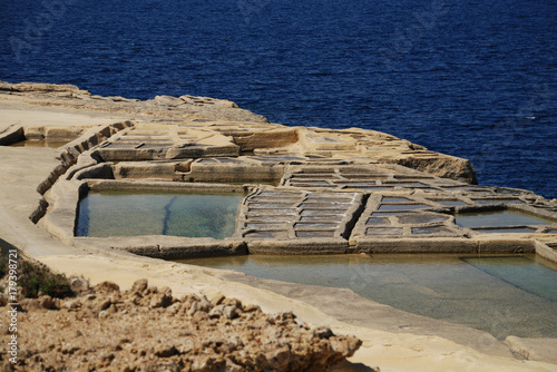 Papiers peints Beige Salines au nord de l'île de Gozo