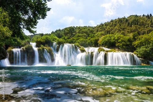 Skradinski buk wodospad w Parku Narodowym Krka w Chorwacji