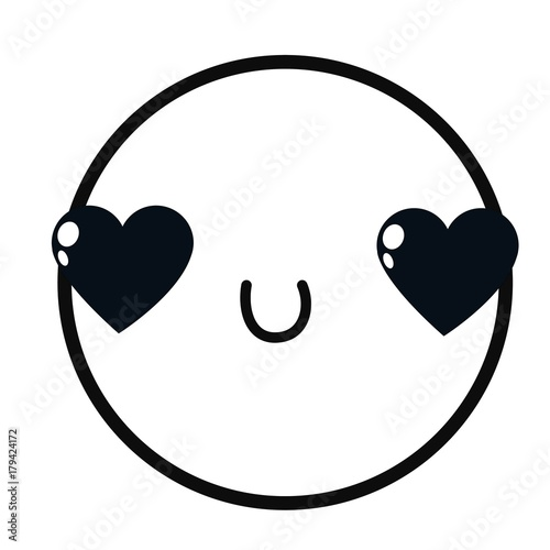 Isolated emoticon design