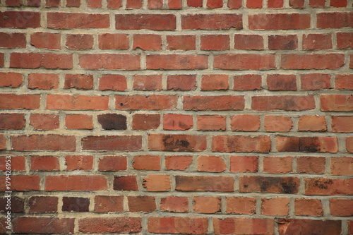 Papiers peints Brick wall Ziegelmauer aus roten ziegelsteinen