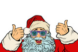 isolated white background Santa Claus funny glasses - 179435555