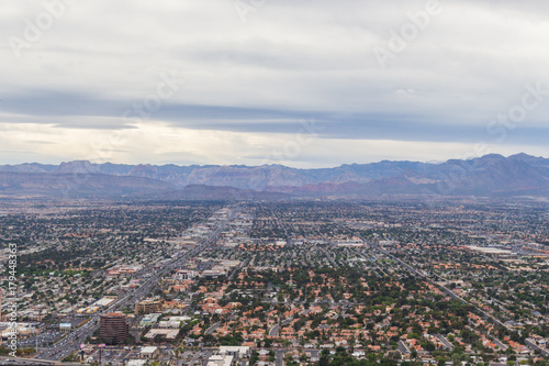 Las Vegas Nevada view from Statosphere Observation Deck Poster