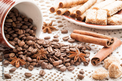 Papiers peints Cafe Coffee beans for background