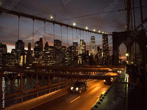 Foto op Aluminium New York crepuscolo sulla metropoli