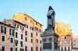 Monument to the  Giordano Bruno in Campo dei Fiori in Rome