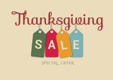 Thanksgiving day sale vector banner - 179474510