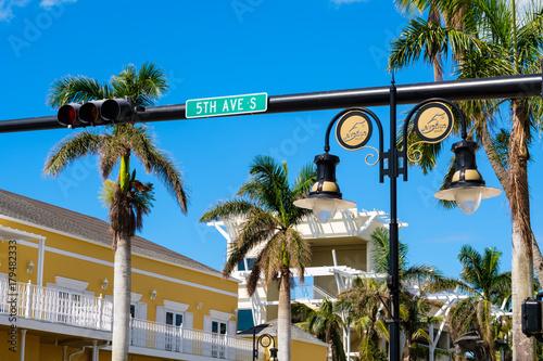 Fotobehang Napels Naples Florida cityscape