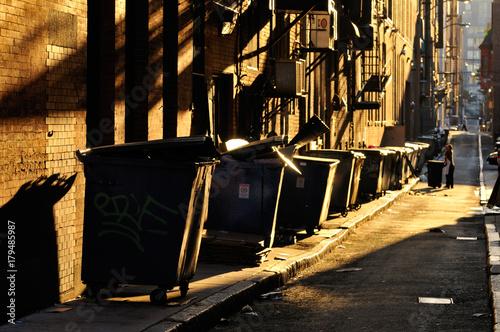 Poster Smal steegje Dark Alley