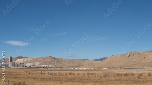 Aluminium Blauwe jeans Desert Landscape